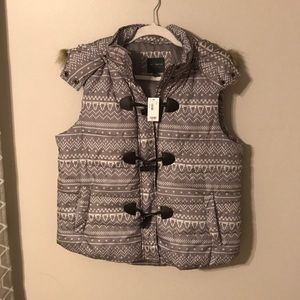 The Limited Gray Puffer Vest